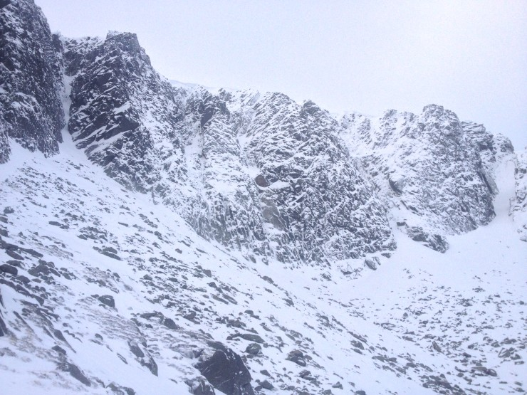 Looking up to the crags