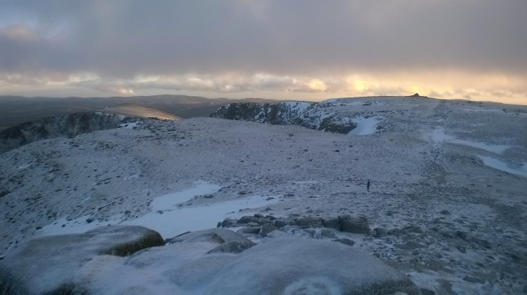 Looking accross the summit plateau.