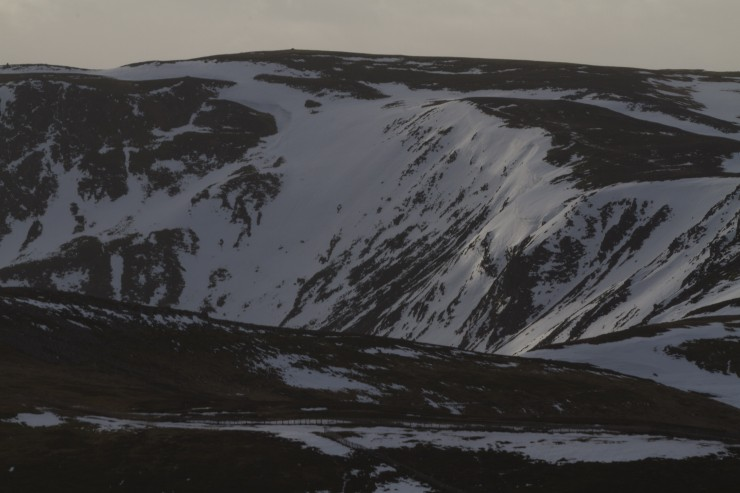 Many corries still holding snow.