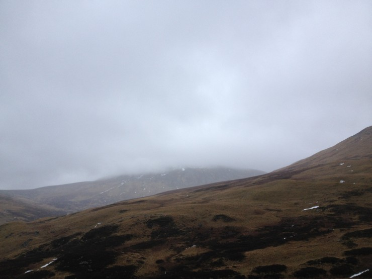 West aspects of Carn an Tuirc, 1019m. No snow visible...