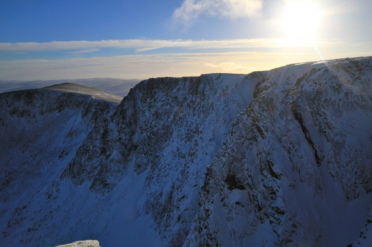 Looking over the crags