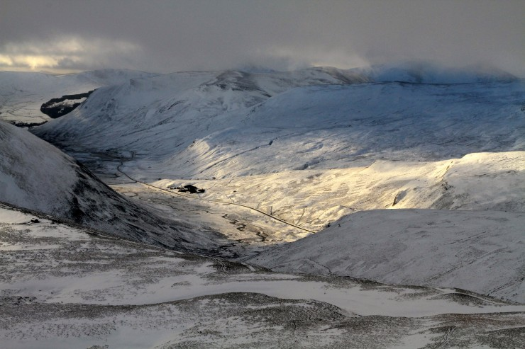 Looking wintry towards Eastery aspects.