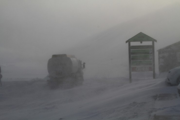 The road was closed today, at Glenshee you could see why.