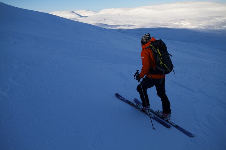 Some good ski touring around but many areas are scoured.