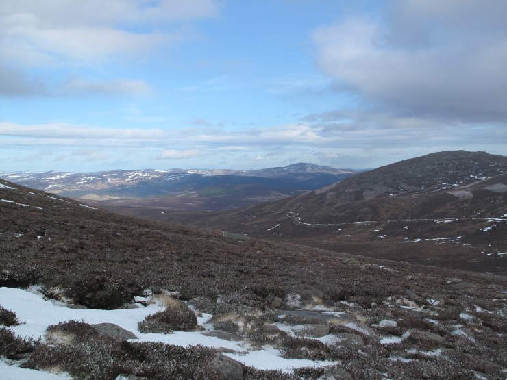 Little snow on the lower hills