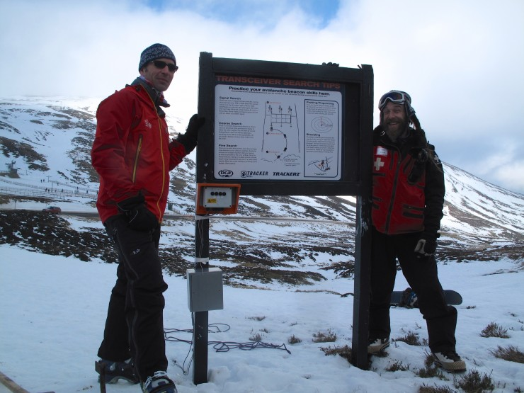 Glenshee Ski Area has it's new transceiver park open. If you have a transceiver -practice!