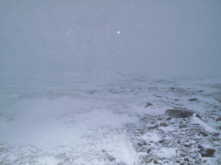Glas Maol plateau, around 1000 metres, looking a bit more wintry.
