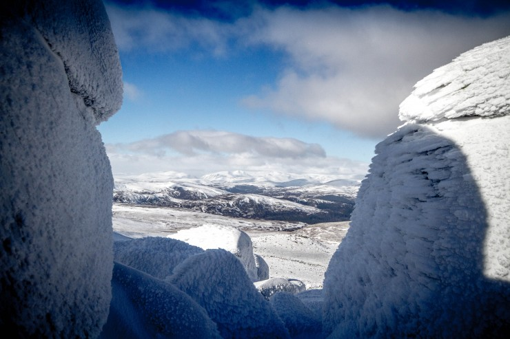 The main Cairngorms from Cac Carn Mor (Lochnagar summit).