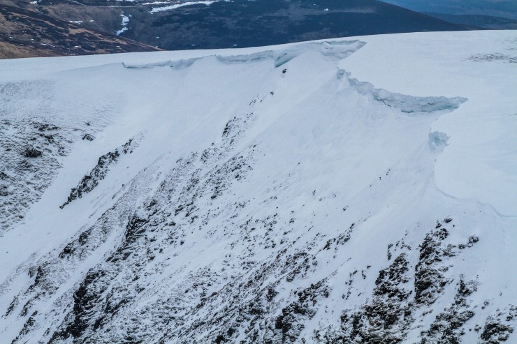 Cornices have mostly collapsed but leave plenty of snow that could collapse.
