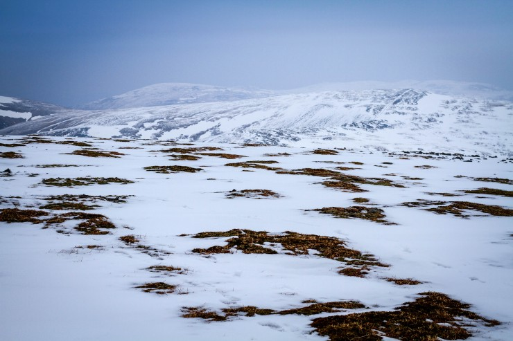 View to Cairn of Claise, pretty broken cover.
