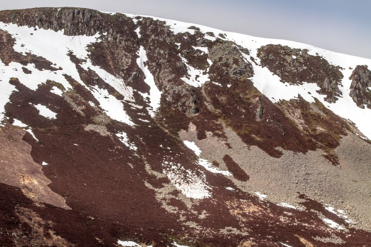Not much snow on this aspect but still enough to produce a small full depth avalanche.