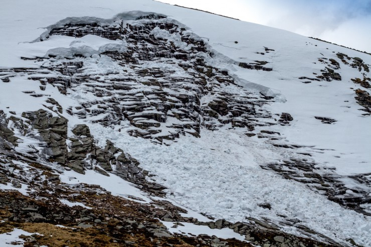 Full depth avalanche on the side of Broad Cairn. This happened last week.