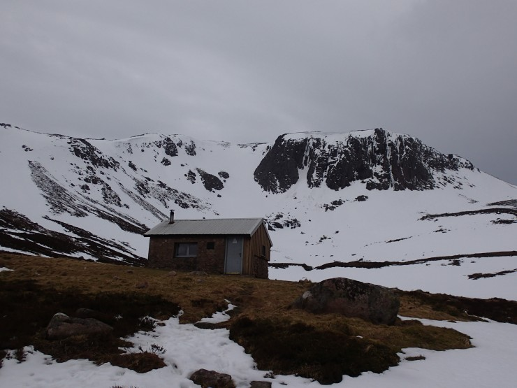Hutchinson hut and Corrie Etchachan.