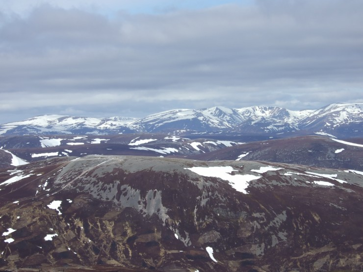 Main Cairngorms from Glas Maol