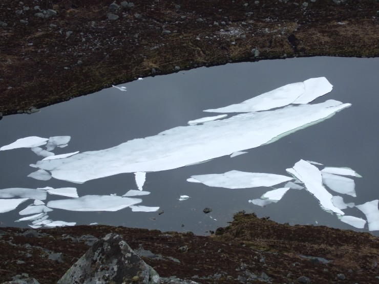 The ice is gradually melting on the loch