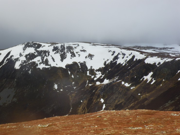 Looking across to Carn nan Sac from Cairnwell