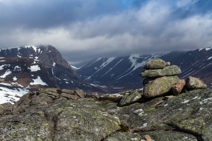 Looking towards the Larig Ghru.