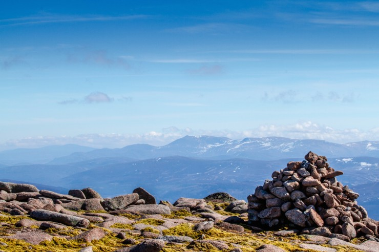 Lochnagar from summit plateau.