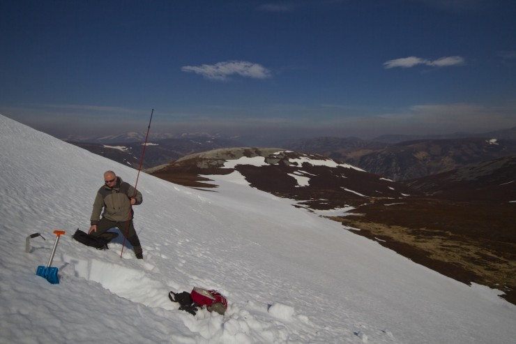 Although patchy, some places, like this corrie, are still holding deep snow.