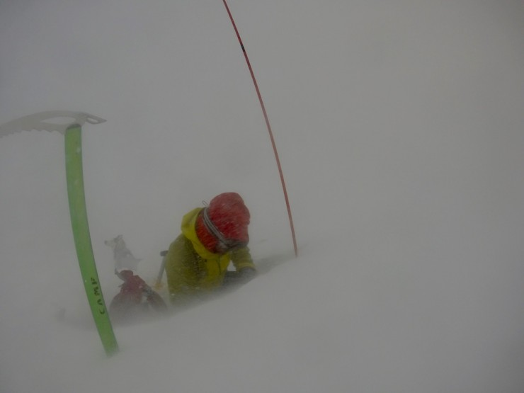 Very poor conditions today. Fresh windslab was quite deep in places.
