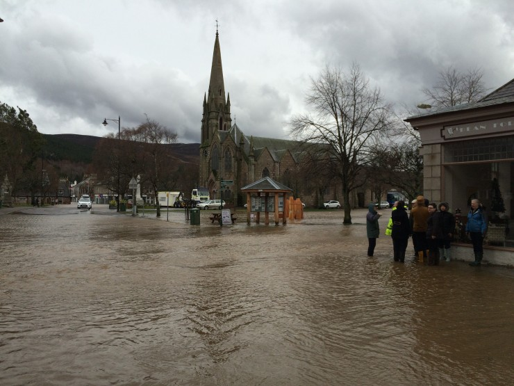 Ballater was hit but some shops have reopened.