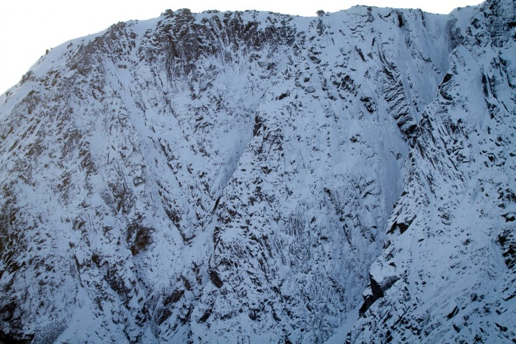Looking to the main crag.