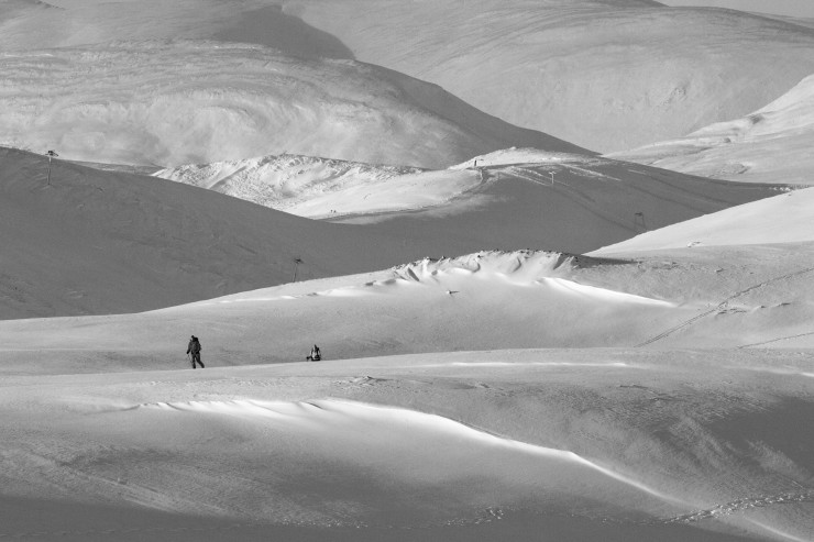 Unsurprisingly ski tourers were out today.