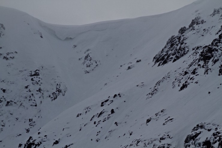 Cornice above Central Gully.