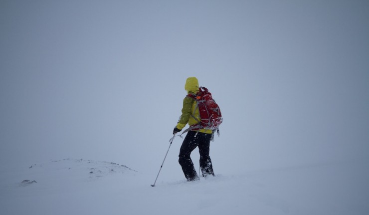 Dropping into Corrie Fionn.