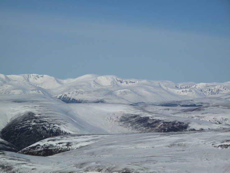 Looking across to the Cairngorms