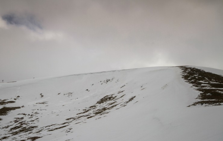 Corrie Fionn. Older avalanche debris in the middle.