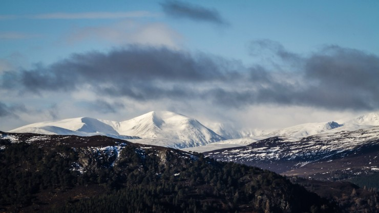 Looking to the Braeriach hills.