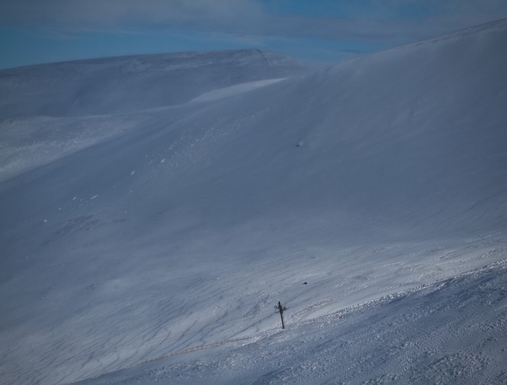 Debris from the West/North-West face of Glas Maol.