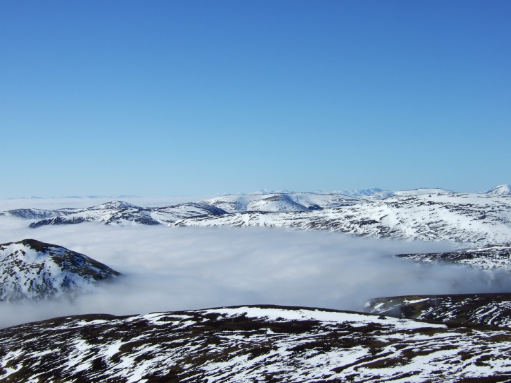 Cloud inversion to the south of Creag Leacach
