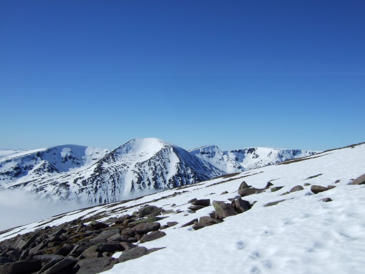 Looking across towards Cairn Toul
