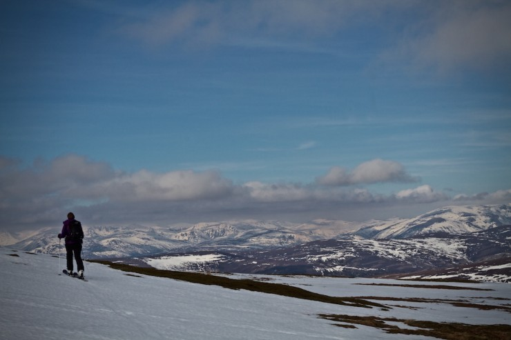 Looking across to the main Cairngorms.