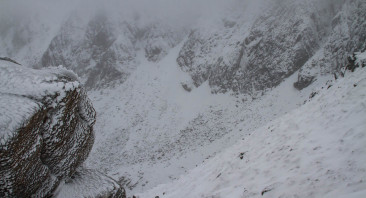 Poor visibility on Lochnagar.